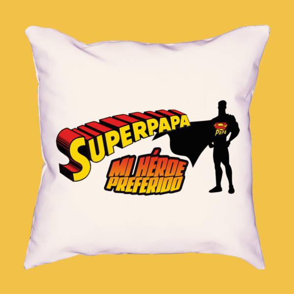 Cojín Superpapá mi super héroe favorito