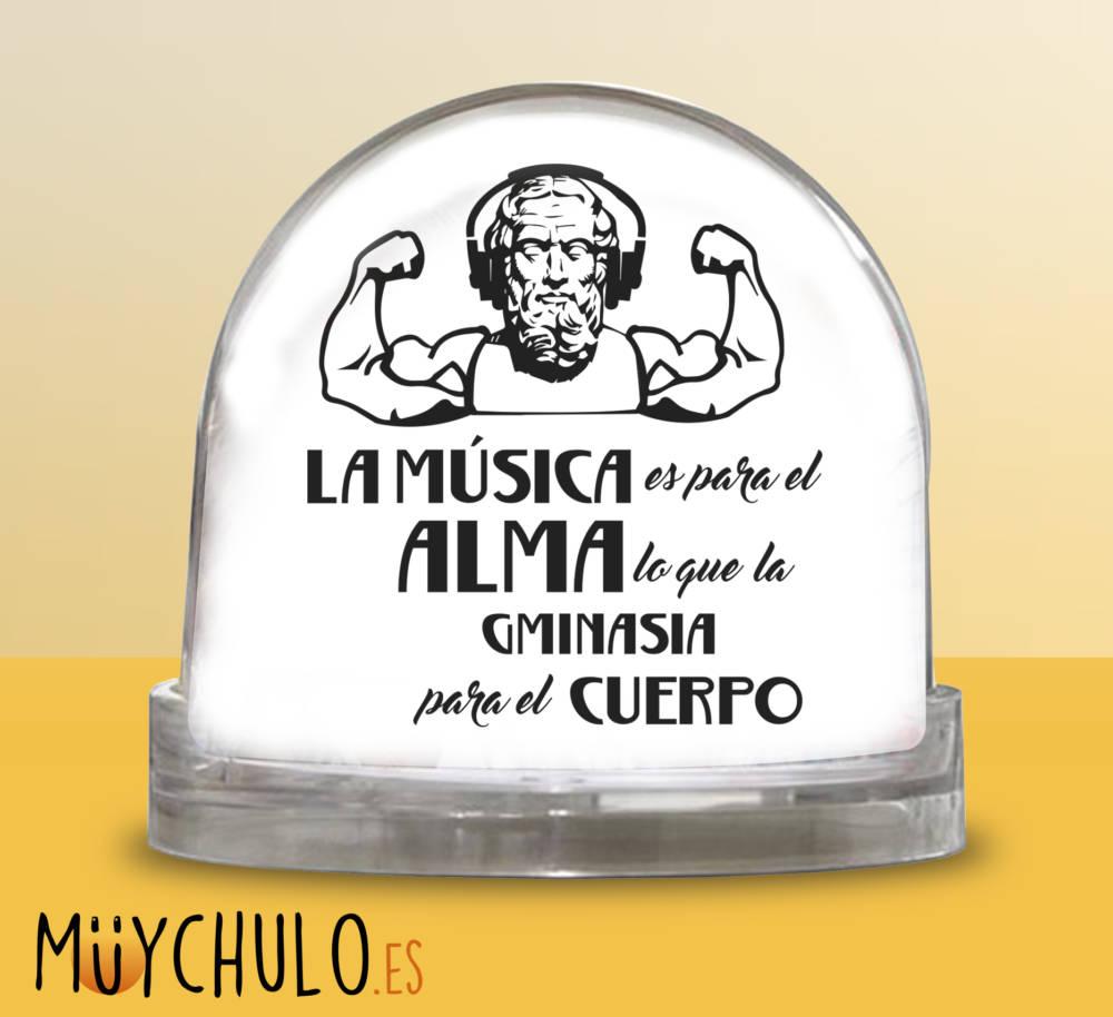 Bola La música es para el alma lo que la gimnasia es para el cuerpo