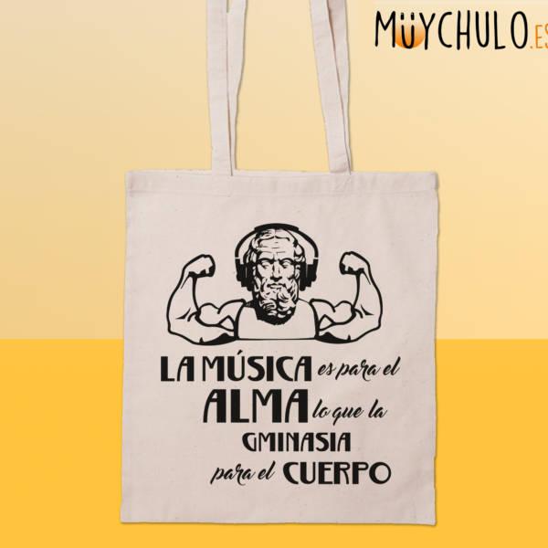Bolsa La música es para el alma como la gimnasia para el cuerpo