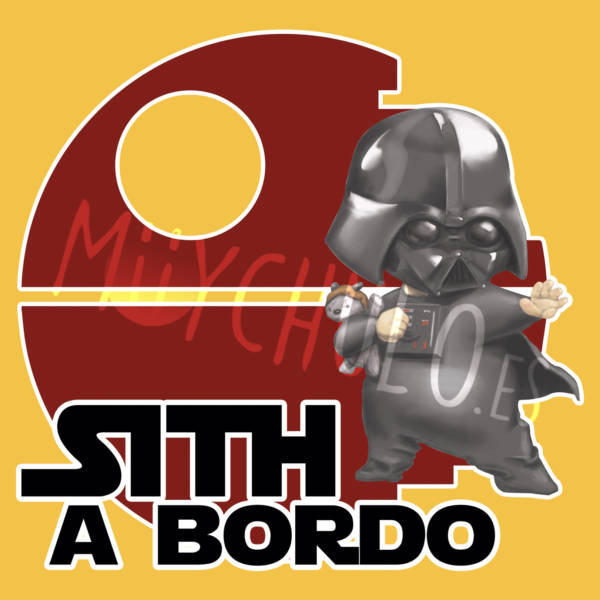 Pegatina Darth Vader a Bordo