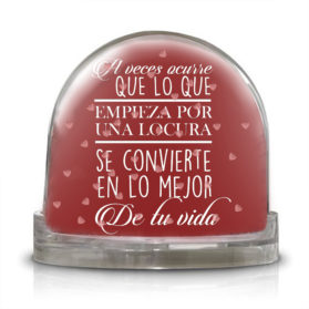 A veces la vida cambia con una locura, te ofrecemos la Bola Locuras que acaban bien. Porque seguro que la locura que te cambio la vida la compartes con el!!