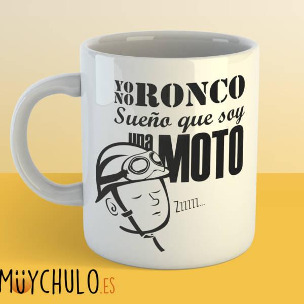 Taza Yo no ronco, sueño que soy una moto