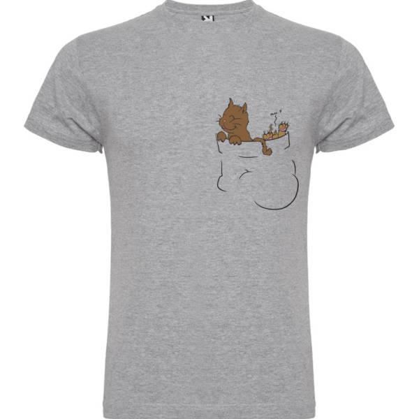 Camiseta Bolsillo con gatitos