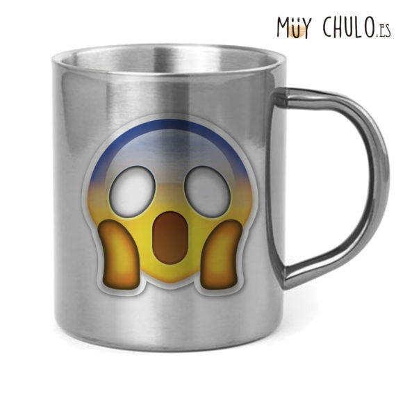 Emoji Taza Asustado