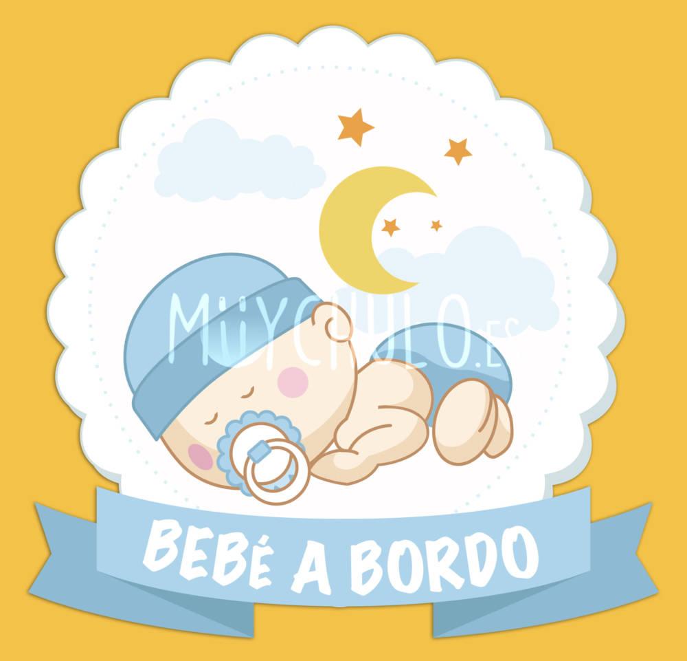 Pegatina Bebé a bordo Bebé durmiendo