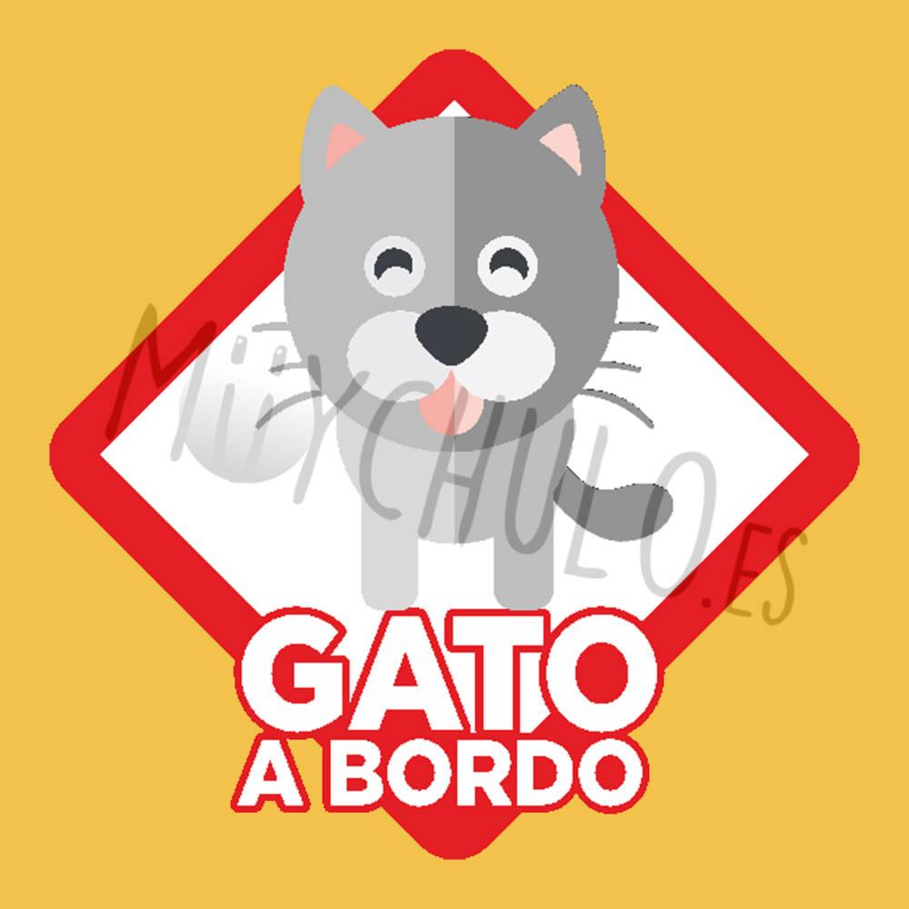 Pegatina Gato bicolor