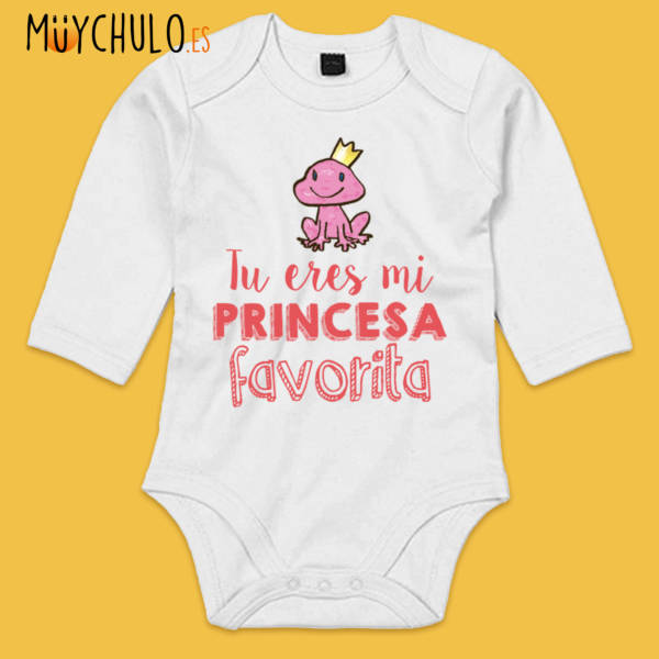 Body de manga larga Tú eres mi princesa favorita