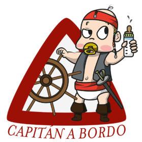 Pegatina Capitán a bordo