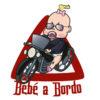 Pegatina Bebé a bordo en moto