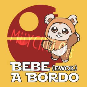 Pegatina Bebé Ewok a Bordo