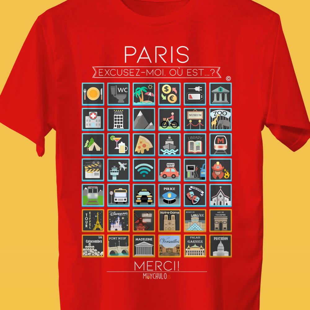 PARIS Camiseta Viajeros