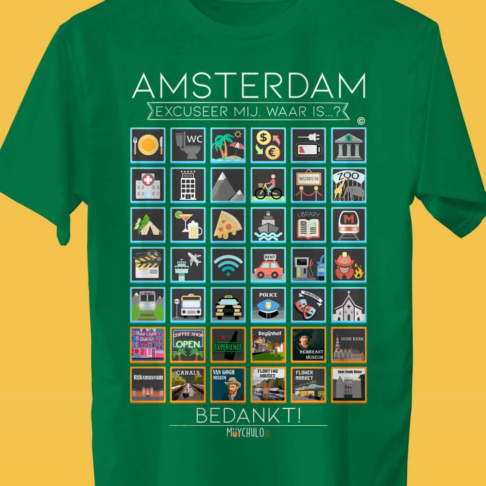 AMSTERDAM Camiseta Viajeros