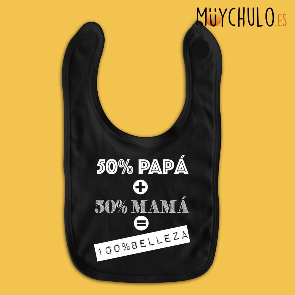 Babero 50% papá 50% mamá