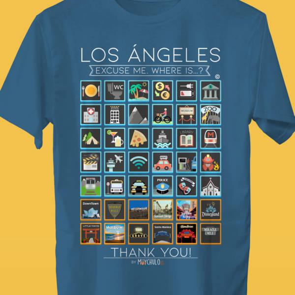 LOS ÁNGELES Camiseta Viajeros