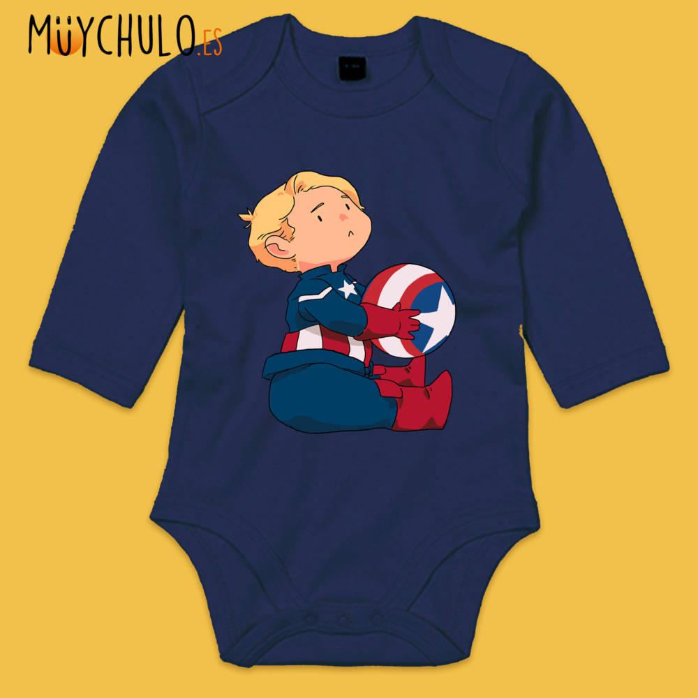 Body manga larga mini Capitán América