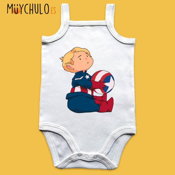 Body de tirantes mini Capitán América