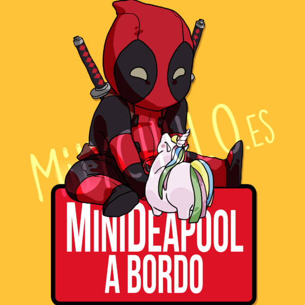 Pegatina Deadpool MiniDEADPOOL A BORDO
