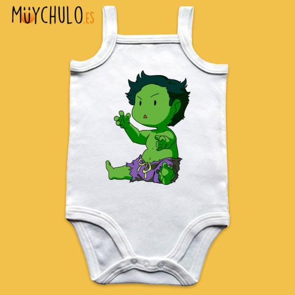 Body de tirantes mini Hulk