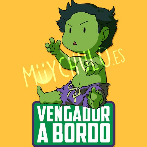 Pegatina Hulk VENGADOR A BORDO