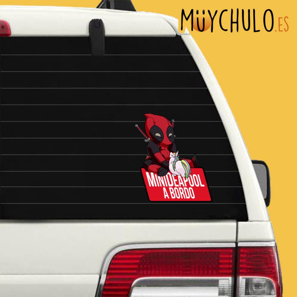 Pegatina Deadpool MiniDEADPOOL A BORDO