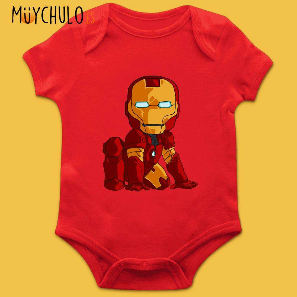 Body manga corta mini Iron Man