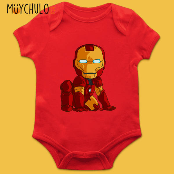 Body manga corta mini Iron Man