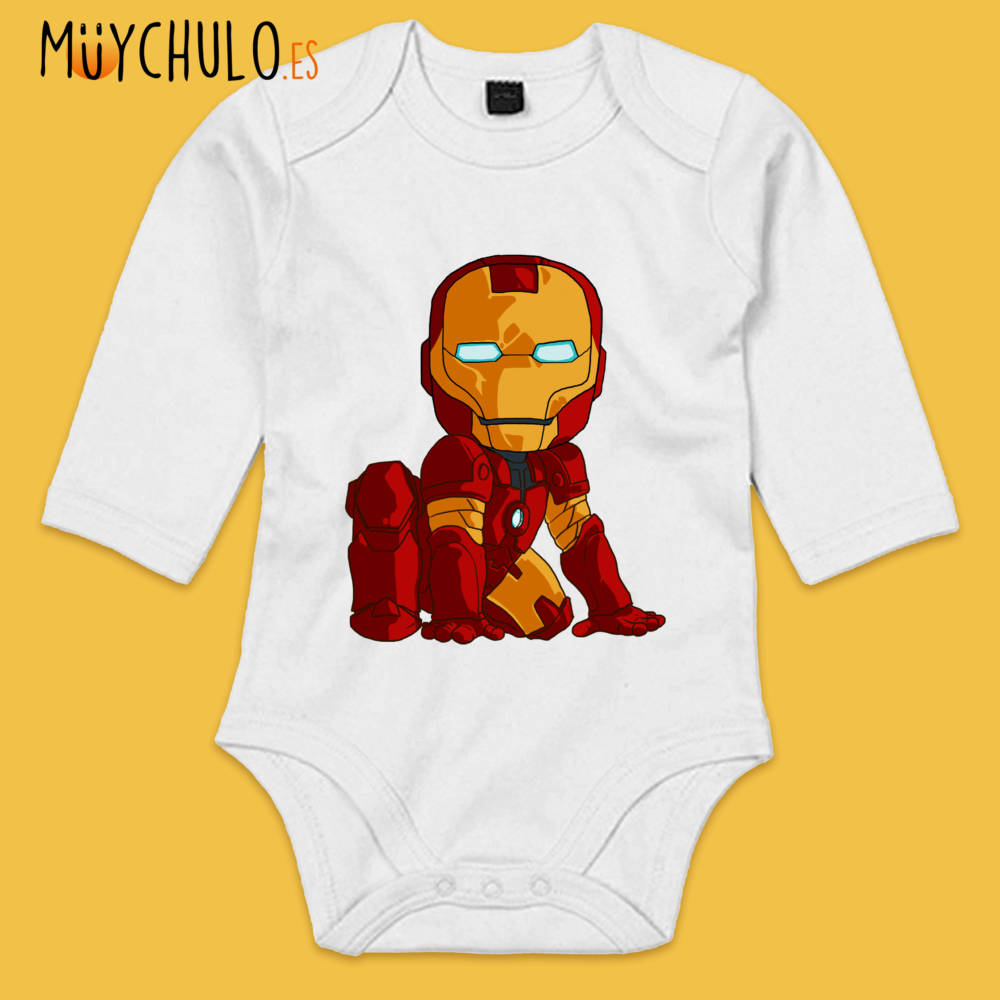 Body manga larga mini Iron Man