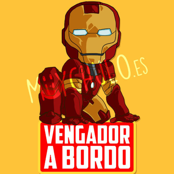 Pegatina Iron Man VENGADOR A BORDO