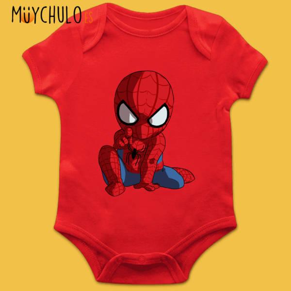 Body manga corta mini Spiderman