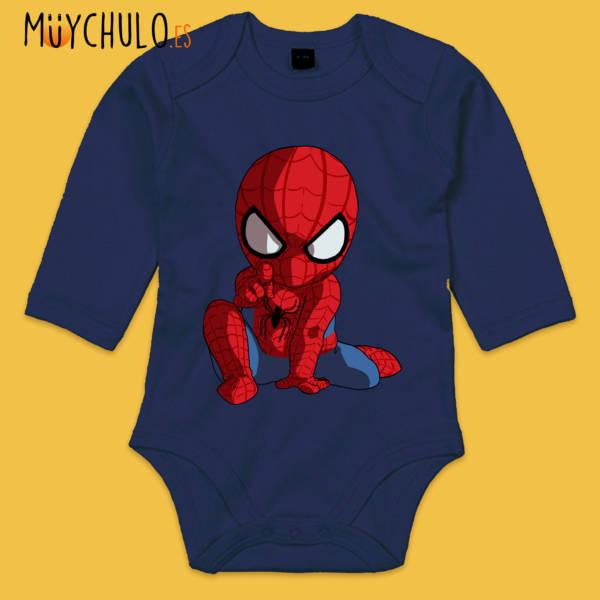Body manga larga mini Spiderman