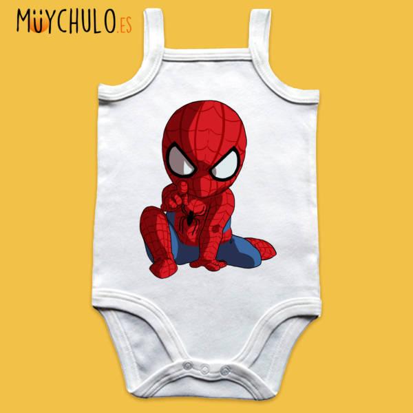 Body de tirantes mini Spiderman