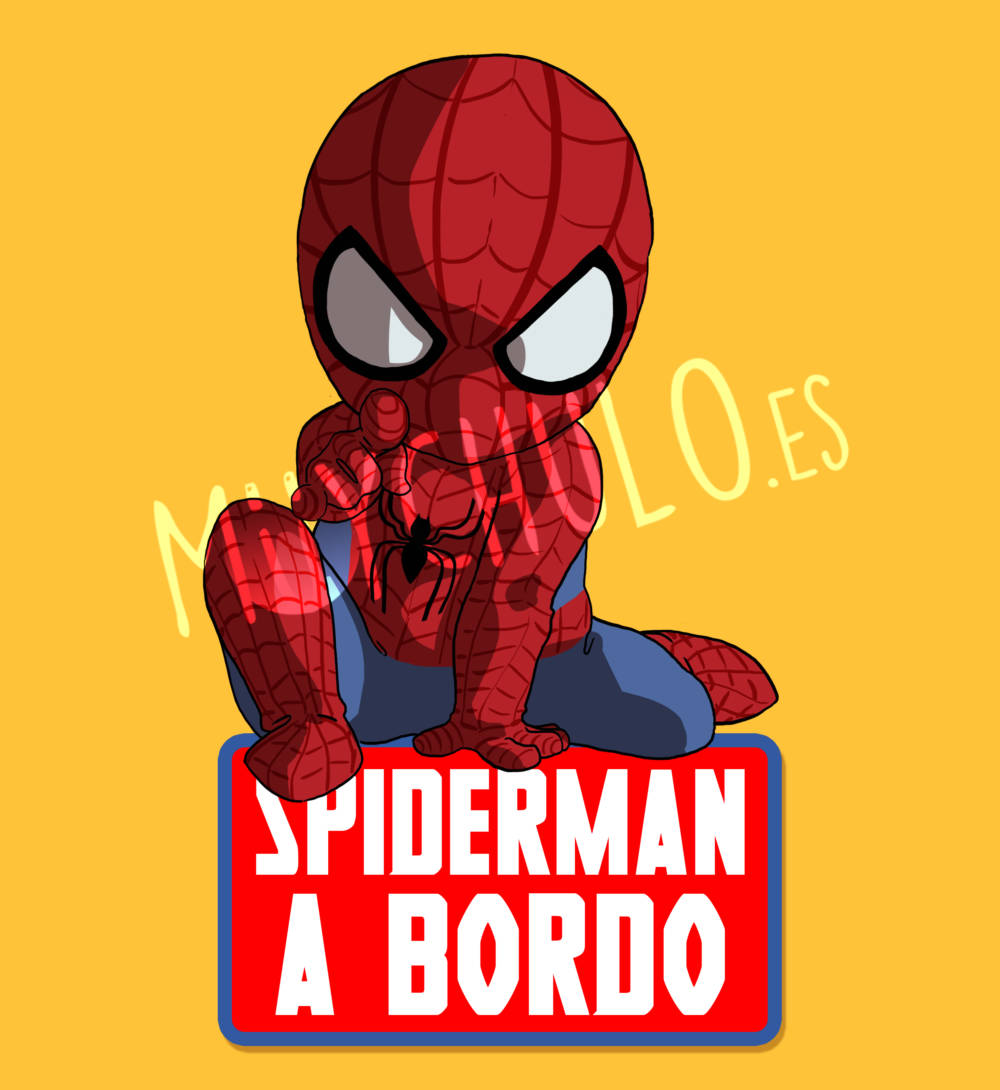 Pegatina Spiderman SPIDERMAN A BORDO