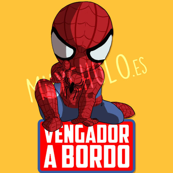 Pegatina Spiderman VENGADOR A BORDO