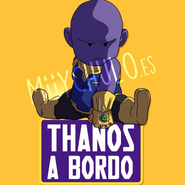 Pegatina Thanos THANOS A BORDO