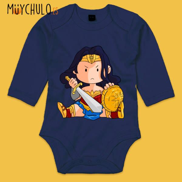 Body manga larga mini Wonder Woman