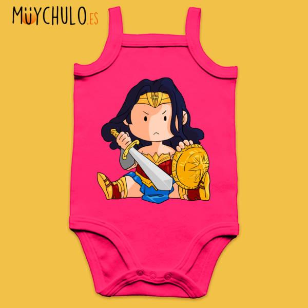 Body de tirantes mini Wonder Woman