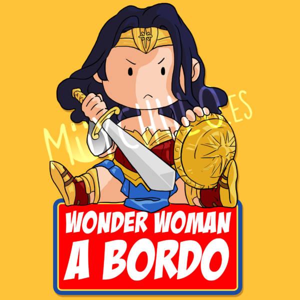 Pegatina WonderWoman WONDERWOMAN A BORDO