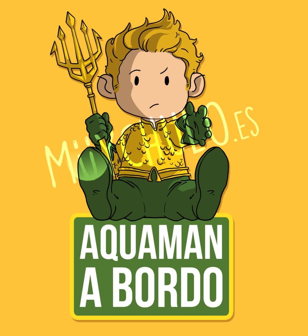 Pegatina Aquaman AQUAMAN A BORDO