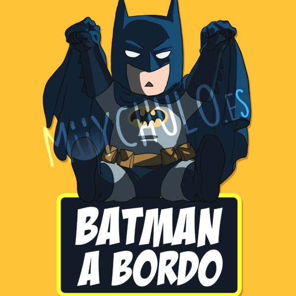 Pegatina Batman BATMAN A BORDO