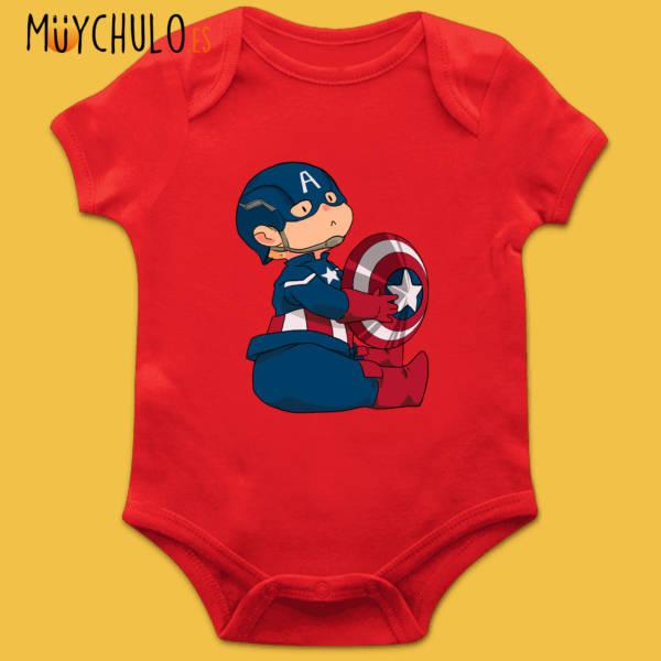 Body manga corta mini Capitán América 2