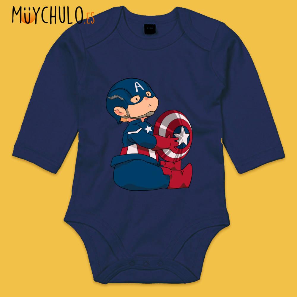 Body manga larga mini Capitán América 2