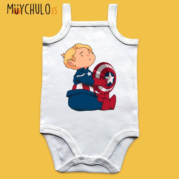 Body de tirantes mini Capitán América 2