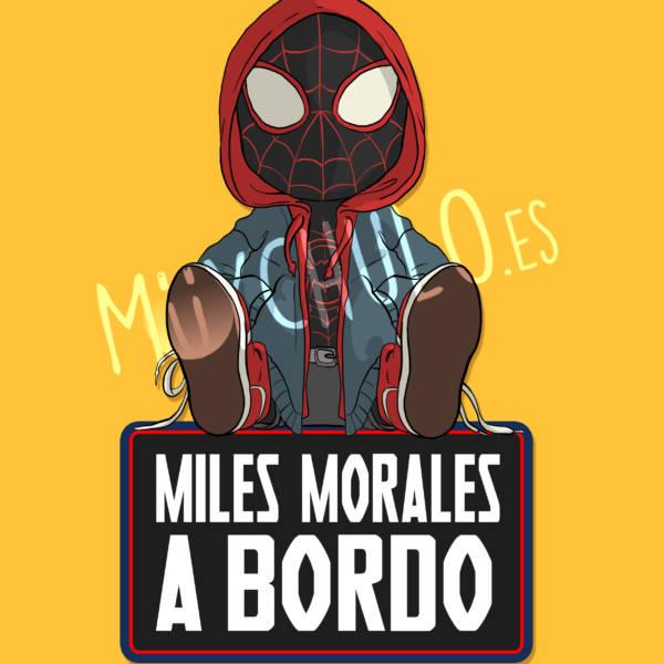 Pegatina Miles Morales MILES MORALES A BORDO