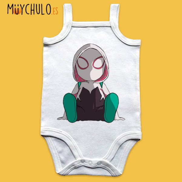 Body de tirantes mini Spider-Gwen