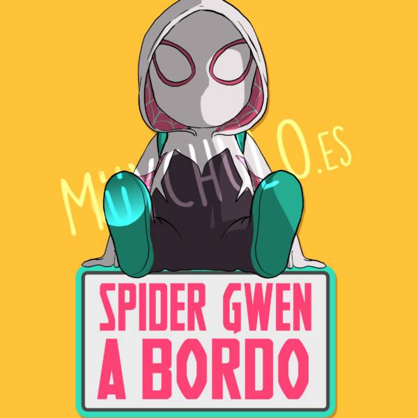 Pegatina Spider-Gwen SPIDER-GWEN A BORDO