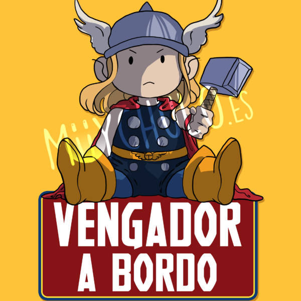 Pegatina Thor VENGADOR A BORDO