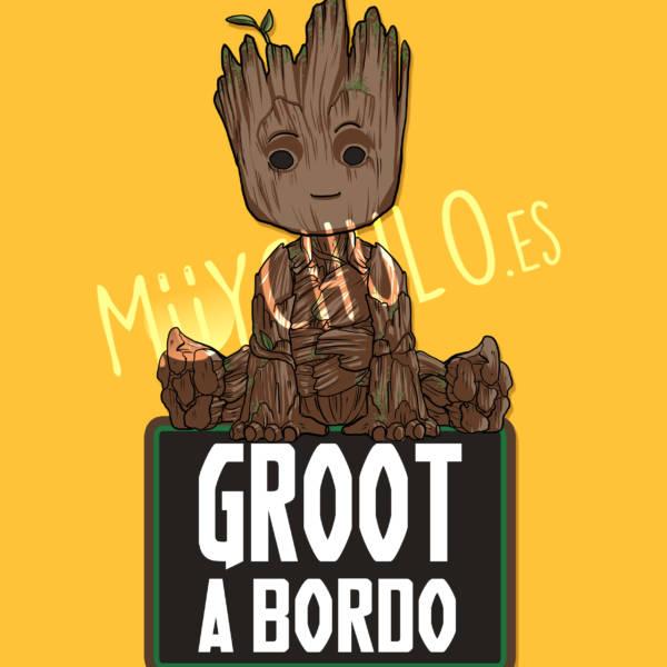 Pegatina Groot GROOT A BORDO