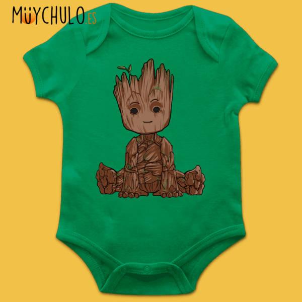 Body manga corta mini Groot