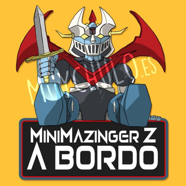 Pegatina Mazinger Z MINIMAZINGER Z A BORDO