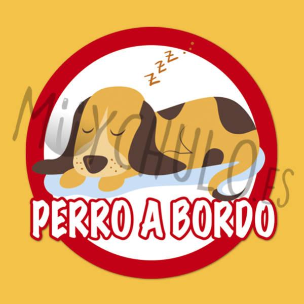 Pegatina PERRO A BORDO 2